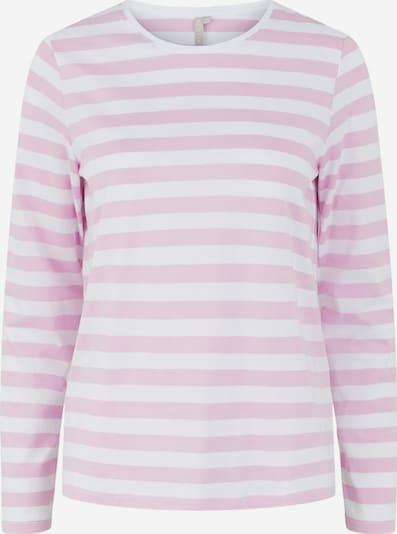 PIECES Shirt in rosa / weiß, Produktansicht