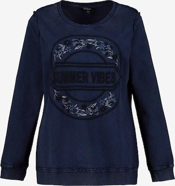 Bluză de molton de la Ulla Popken pe albastru