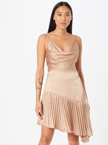 Chi Chi London Cocktail dress in Beige