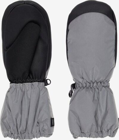 NAME IT Wasserdichte reflektierende Fäustlinge Handschuhe in grau / schwarz, Produktansicht