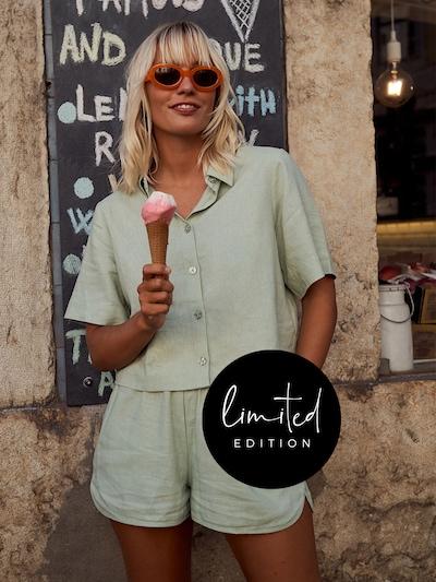 ABOUT YOU Limited Shorts 'Elfi' by Janine Jahnke in grün, Modelansicht