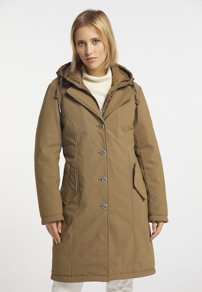 DreiMaster Klassik Manteau d'hiver en beige foncé, Vue avec modèle
