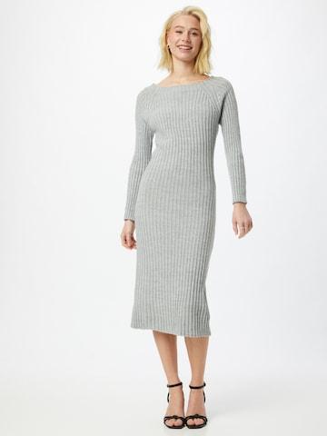 WAL G. Gebreide jurk 'LASSIE' in Grijs