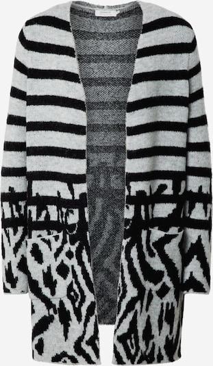 ONLY Gebreid vest 'Flynn' in de kleur Lichtgrijs / Zwart, Productweergave