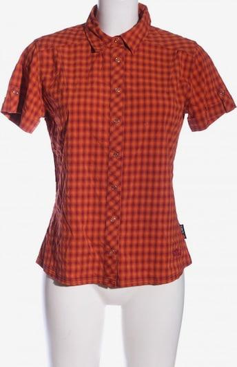 JACK WOLFSKIN Kurzarmhemd in M in hellorange / rot, Produktansicht