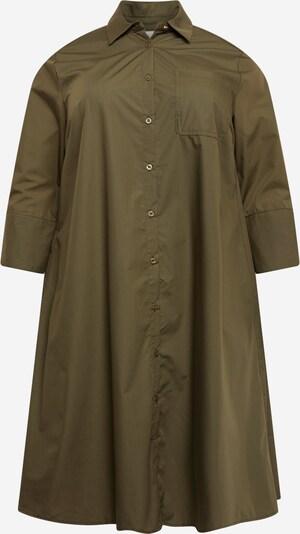 Rochie tip bluză 'KCanica Shirt Dress' KAFFE CURVE pe verde închis, Vizualizare produs