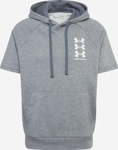 UNDER ARMOUR Sweat de sport 'UA Rival' en gris / blanc, Vue avec produit