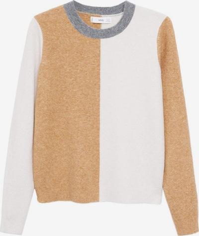 MANGO Pullover 'Juglar' in braun / hellgrau / weiß, Produktansicht