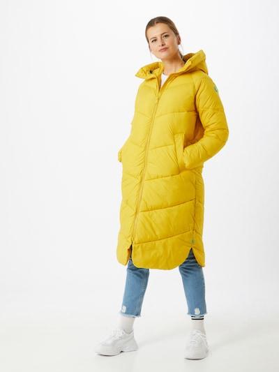 SAVE THE DUCK Płaszcz zimowy 'Recyy' w kolorze żółtym: Widok z przodu