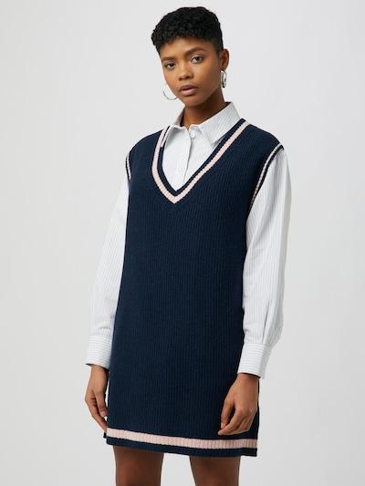 WEEKDAY Pletené šaty - modrá / ružová, Model/-ka