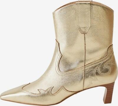 VIOLETA by Mango Cowboystiefel 'Corine' in gold, Produktansicht