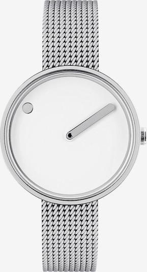 Picto Uhr in silber / weiß, Produktansicht