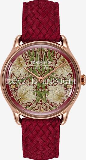 August Berg Uhr 'MORRIS & CO Rose Gold Red Perlon 30mm' in rot, Produktansicht