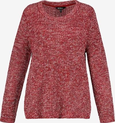 Ulla Popken Pull-over en rouge chiné, Vue avec produit