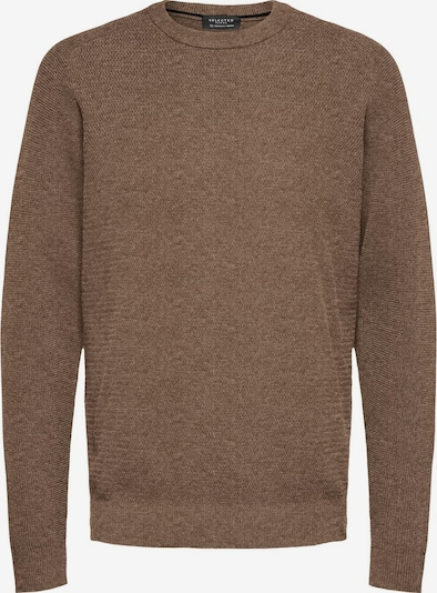 SELECTED HOMME Pullover in braun, Produktansicht