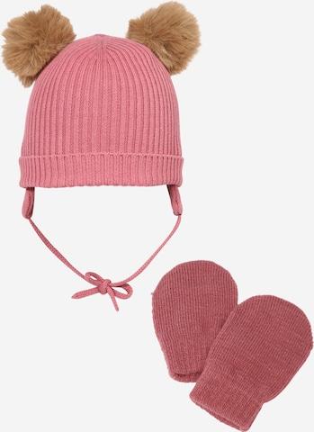 NAME IT Mütze und Handschuhe 'NBNMARA' in Pink