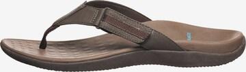 SCHOLL T-Bar Sandals 'Ryder' in Brown