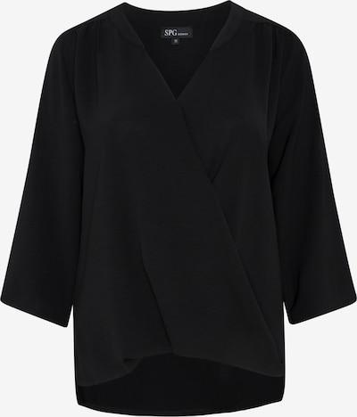 SPGWOMAN Wickelbluse in schwarz, Produktansicht