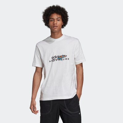 ADIDAS ORIGINALS Shirt in de kleur Wit: Vooraanzicht