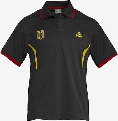 PEAK Polo-Shirt 'Deutschland Basketball' in schwarz, Produktansicht