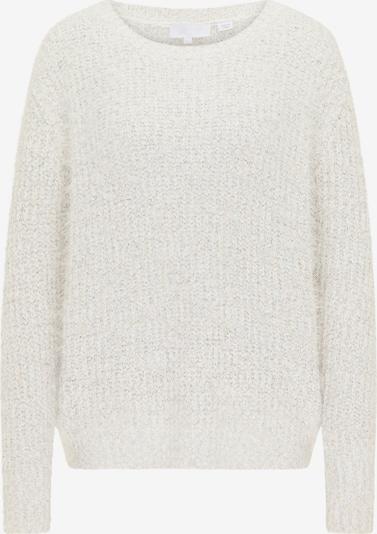 usha WHITE LABEL Pullover in dunkelbraun / naturweiß, Produktansicht