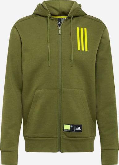 Giacca di felpa sportiva ADIDAS PERFORMANCE di colore giallo neon / oliva / nero, Visualizzazione prodotti