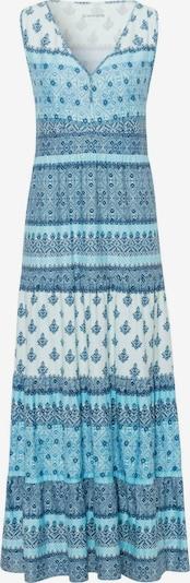 Green Cotton Jerseykleid in blau, Produktansicht