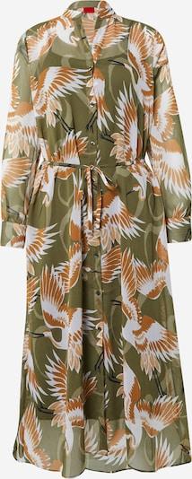 HUGO Robe-chemise 'Elektra' en caramel / olive / noir / blanc, Vue avec produit