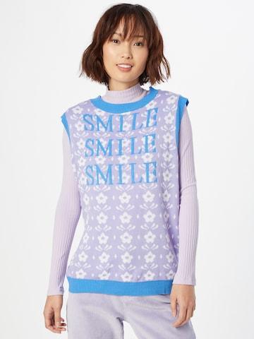 Daisy Street Sweater in Purple