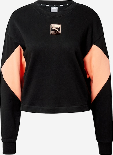 PUMA Sportief sweatshirt 'Rebel Crew TR' in de kleur Perzik / Zwart, Productweergave