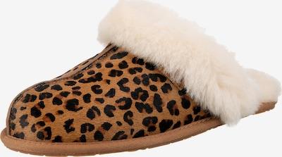 UGG Pantofle - hnědá / černá / barva bílé vlny, Produkt