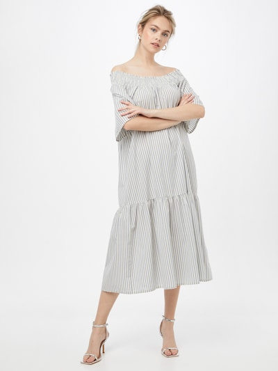 Rochie de vară SOAKED IN LUXURY pe albastru fumuriu / alb, Vizualizare model