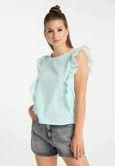 MYMO Blouse in Azure, View model