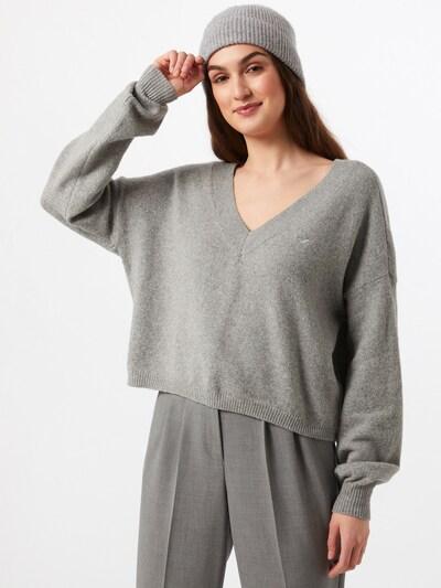 HOLLISTER Jersey 'HONEYCOMB' en gris, Vista del modelo