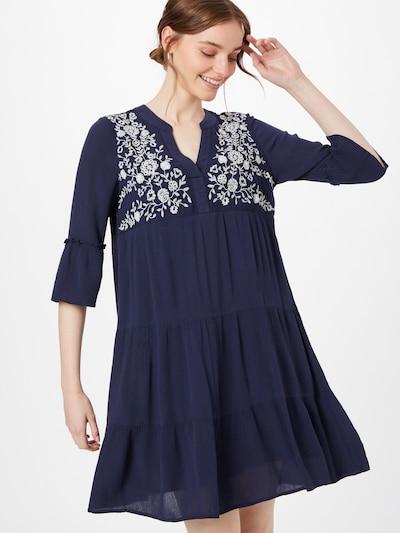 VERO MODA Košeľové šaty 'KARLA' - tmavomodrá / biela, Model/-ka