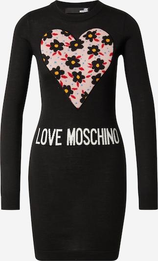 Love Moschino Πλεκτό φόρεμα 'VESTITO INTARSIO CUORE 80'S FLOWERS' σε μπλε / κίτρινο / ρόδινο / κόκκινο / μαύρο / λευκό, Άποψη προϊόντος