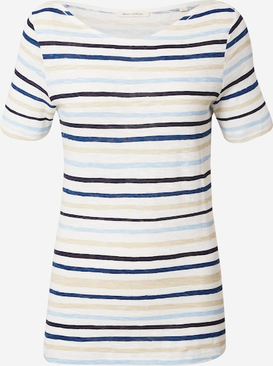 Marc O'Polo Shirt in de kleur Beige / Aqua / Donkerblauw / Wit, Productweergave