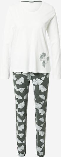 ESPRIT Pidžama 'Hanni' u kaki / bijela, Pregled proizvoda