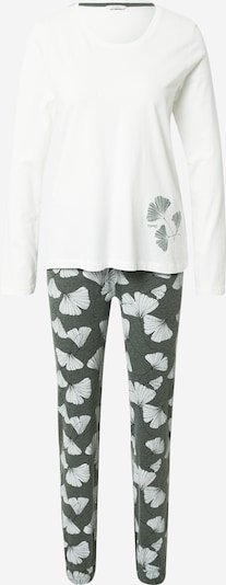 ESPRIT Pyjama 'Hanni' in de kleur Kaki / Wit, Productweergave