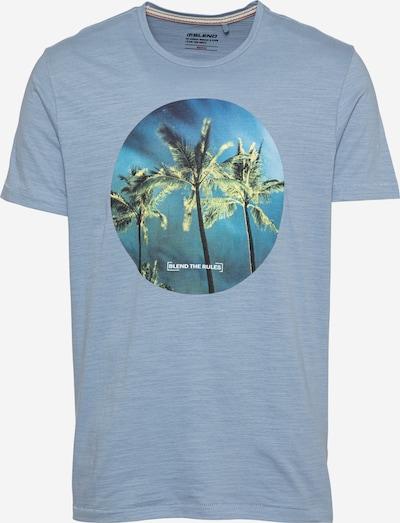 BLEND T-Shirt in navy / rauchblau / royalblau / kiwi / weiß, Produktansicht