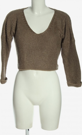 America Today Cropped Pullover in XS in braun, Produktansicht