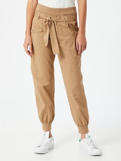 BUFFALO Pantalon harem en beige foncé, Vue avec modèle
