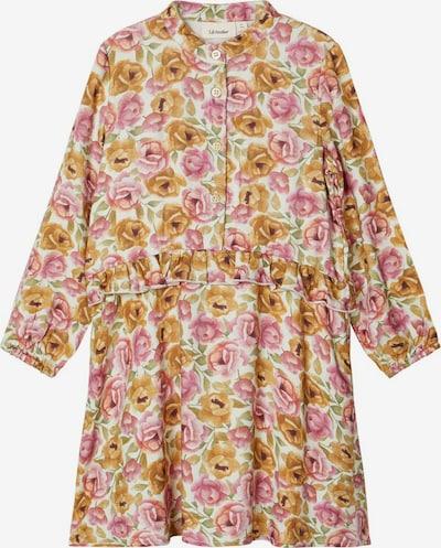 NAME IT Blumenprint Kleid in karamell / mischfarben / rosa / wollweiß, Produktansicht