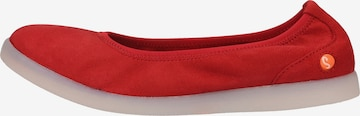 Softinos Ballet Flats in Red