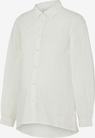 Camicia da donna 'NANNA' di MAMALICIOUS in bianco