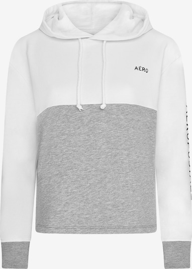 AÈROPOSTALE Sweater majica u siva melange / bijela, Pregled proizvoda
