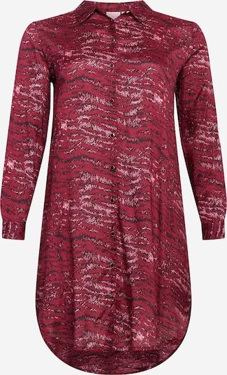 KAFFE CURVE Blousejurk 'Sille' in de kleur Pink / Rood, Productweergave