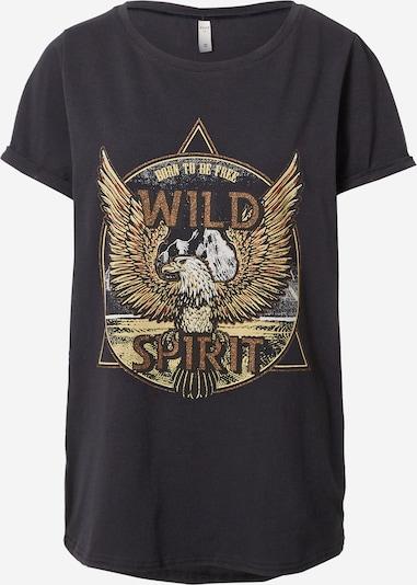 PULZ Jeans Shirt 'GUDRUN' in braun / hellbraun / schwarz, Produktansicht