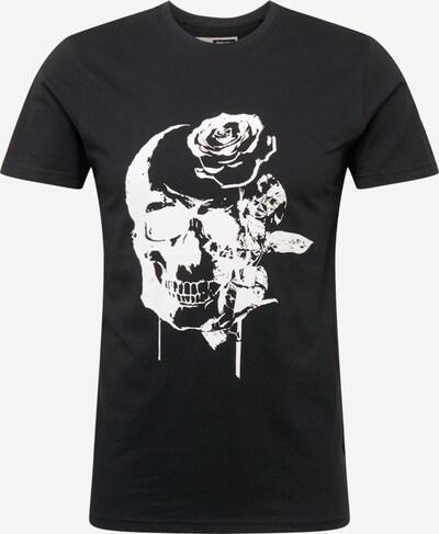 fekete / fehér !Solid Póló 'SDMica', Termék nézet