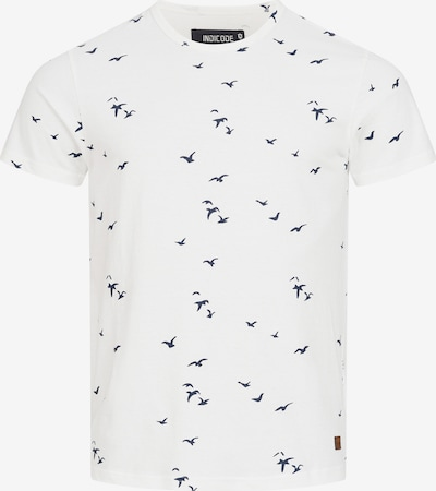 INDICODE JEANS Shirt 'McFarland' in de kleur Navy / Offwhite, Productweergave